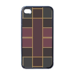 Vertical And Horizontal Rectangles Apple Iphone 4 Case (black) by LalyLauraFLM