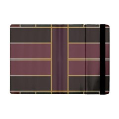Vertical And Horizontal Rectangles Apple Ipad Mini Flip Case by LalyLauraFLM