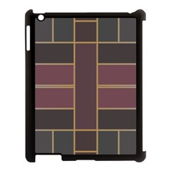 Vertical And Horizontal Rectangles Apple Ipad 3/4 Case (black) by LalyLauraFLM