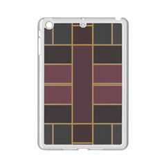 Vertical And Horizontal Rectangles Apple Ipad Mini 2 Case (white) by LalyLauraFLM