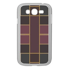Vertical And Horizontal Rectangles Samsung Galaxy Grand Duos I9082 Case (white) by LalyLauraFLM