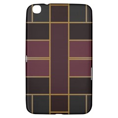 Vertical And Horizontal Rectangles Samsung Galaxy Tab 3 (8 ) T3100 Hardshell Case  by LalyLauraFLM