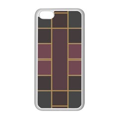 Vertical And Horizontal Rectangles Apple Iphone 5c Seamless Case (white) by LalyLauraFLM