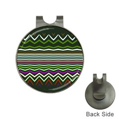 Chevrons And Distorted Stripes Golf Ball Marker Hat Clip