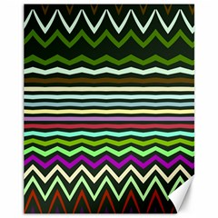 Chevrons And Distorted Stripes Canvas 11  X 14  by LalyLauraFLM