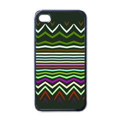 Chevrons And Distorted Stripes Apple Iphone 4 Case (black) by LalyLauraFLM