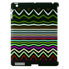 Chevrons And Distorted Stripes Apple Ipad 3/4 Hardshell Case (compatible With Smart Cover) by LalyLauraFLM