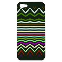 Chevrons And Distorted Stripes Apple Iphone 5 Hardshell Case by LalyLauraFLM