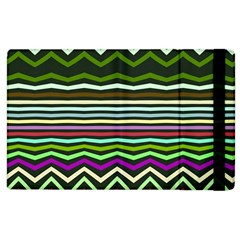 Chevrons And Distorted Stripes Apple Ipad 2 Flip Case by LalyLauraFLM