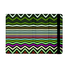 Chevrons And Distorted Stripes Apple Ipad Mini Flip Case by LalyLauraFLM