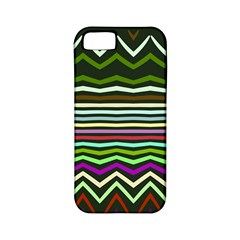 Chevrons And Distorted Stripes Apple Iphone 5 Classic Hardshell Case (pc+silicone) by LalyLauraFLM