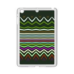 Chevrons And Distorted Stripes Apple Ipad Mini 2 Case (white) by LalyLauraFLM