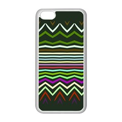 Chevrons And Distorted Stripes Apple Iphone 5c Seamless Case (white) by LalyLauraFLM