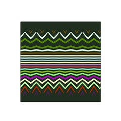 Chevrons And Distorted Stripes Satin Bandana Scarf by LalyLauraFLM