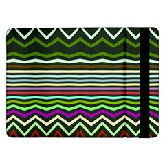 Chevrons And Distorted Stripes	samsung Galaxy Tab Pro 12 2  Flip Case by LalyLauraFLM