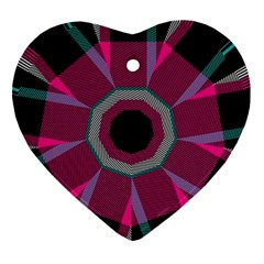 Striped Hole Ornament (heart)