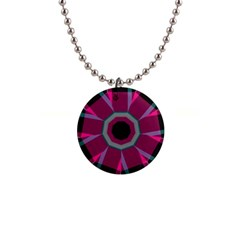 Striped Hole 1  Button Necklace by LalyLauraFLM