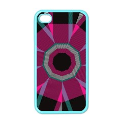 Striped Hole Apple Iphone 4 Case (color) by LalyLauraFLM