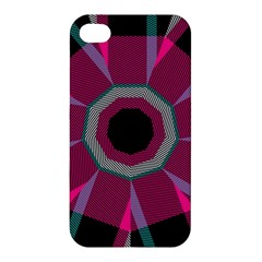 Striped Hole Apple Iphone 4/4s Hardshell Case by LalyLauraFLM