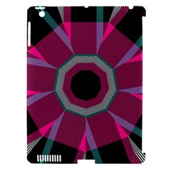Striped Hole Apple Ipad 3/4 Hardshell Case (compatible With Smart Cover)