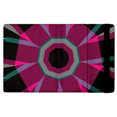 Striped Hole Apple Ipad 3/4 Flip Case by LalyLauraFLM
