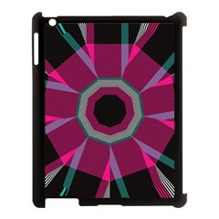 Striped Hole Apple Ipad 3/4 Case (black) by LalyLauraFLM