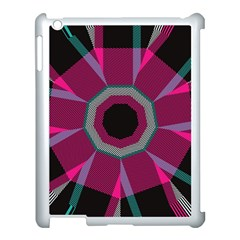Striped Hole Apple Ipad 3/4 Case (white) by LalyLauraFLM