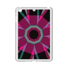 Striped Hole Apple Ipad Mini 2 Case (white) by LalyLauraFLM