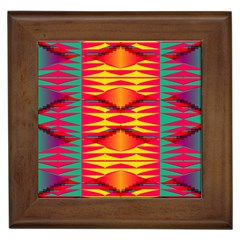 Colorful Tribal Texture Framed Tile by LalyLauraFLM