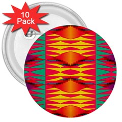 Colorful Tribal Texture 3  Button (10 Pack) by LalyLauraFLM