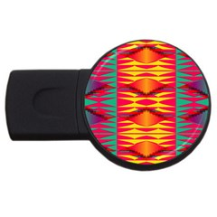 Colorful Tribal Texture Usb Flash Drive Round (2 Gb) by LalyLauraFLM