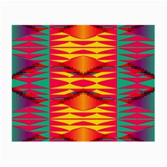 Colorful Tribal Texture Small Glasses Cloth by LalyLauraFLM
