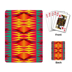 Colorful Tribal Texture Playing Cards Single Design by LalyLauraFLM