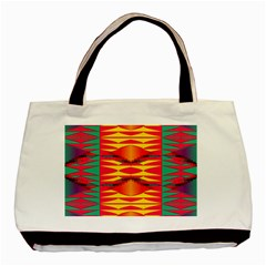 Colorful Tribal Texture Basic Tote Bag