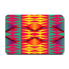 Colorful Tribal Texture Small Doormat by LalyLauraFLM