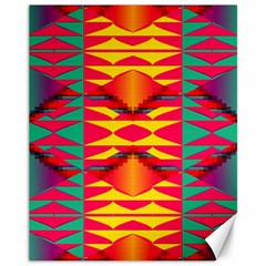 Colorful Tribal Texture Canvas 11  X 14  by LalyLauraFLM