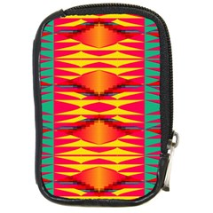Colorful Tribal Texture Compact Camera Leather Case by LalyLauraFLM
