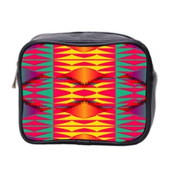 Colorful Tribal Texture Mini Toiletries Bag (two Sides)