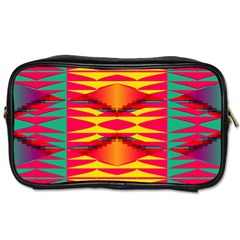 Colorful Tribal Texture Toiletries Bag (two Sides) by LalyLauraFLM