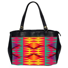 Colorful Tribal Texture Oversize Office Handbag (2 Sides) by LalyLauraFLM