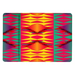 Colorful Tribal Texture Samsung Galaxy Tab 10 1  P7500 Flip Case by LalyLauraFLM