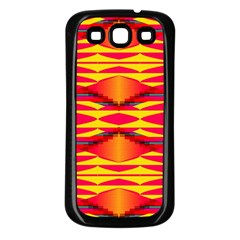 Colorful Tribal Texture Samsung Galaxy S3 Back Case (black) by LalyLauraFLM