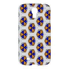 Orange Blue Honeycomb Pattern Samsung Galaxy S4 I9500/i9505 Hardshell Case by LalyLauraFLM