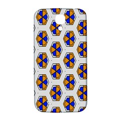Orange Blue Honeycomb Pattern Samsung Galaxy S4 I9500/i9505  Hardshell Back Case by LalyLauraFLM