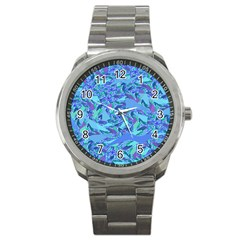 Blue Confetti Storm Sport Metal Watch