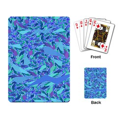 Blue Confetti Storm Playing Cards Single Design by KirstenStar
