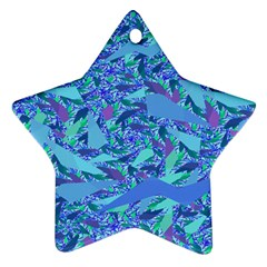 Blue Confetti Storm Star Ornament (two Sides)