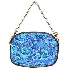 Blue Confetti Storm Chain Purse (two Sided)