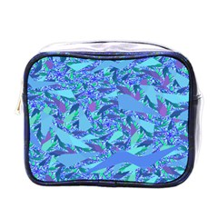Blue Confetti Storm Mini Travel Toiletry Bag (one Side)