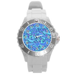 Blue Confetti Storm Plastic Sport Watch (large)